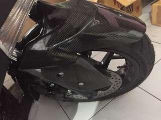 Yamaha XMax full carbon Kevlar front fender/mudguard