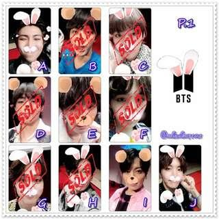 「K-Pop」BTS - 水晶卡貼 ( 散買 )