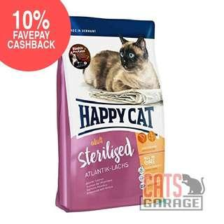 🚚 Happy Cat® Sterilised - Atlantik-Lachs (Atlantic Salmon) - 2 Sizes
