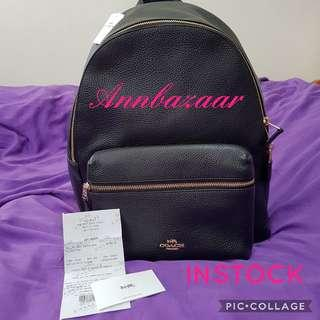 INSTOCK SPECIAL OFFER! Coach Large Charlie Backpack- Black (100% Authentic)