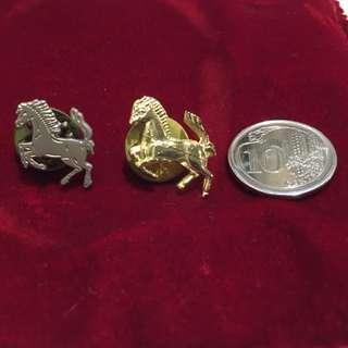 "Ferrari ""Prancing Horse"" Lapel Pins with clasp"