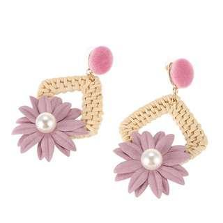 🚚 Rattan Earrings