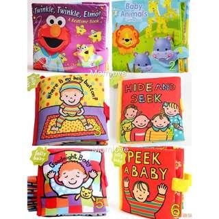 🚚 Brand New Jollybaby Educational Learning Early Development Colorful Cloth Book