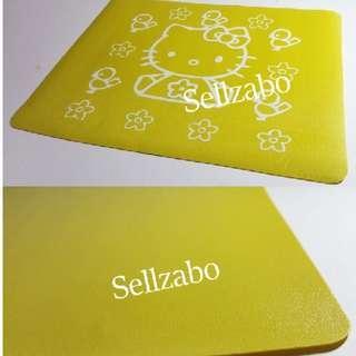 Yellow Hello Kitty Thin Cloth Mousepads Sellzabo Mouse Pads HelloKitty HK 凯蒂貓 Cats