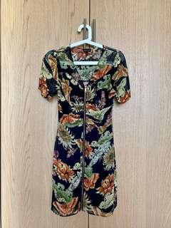 Topshop zip dress