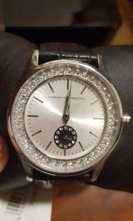 French connection brand new crystal watch with leather strap