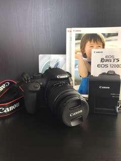 Canon Rebel T5 with lens