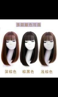 🚚 (NO INSTOCKS!)Preorder korean Natural Air fringe straight long wig *waiting time 15 days after payment is made * chat to buy to order