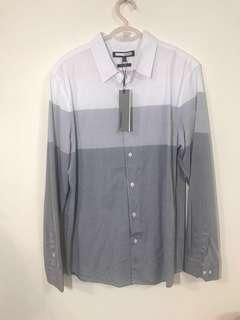 🚚 H:connect 灰色漸層襯衫 全新