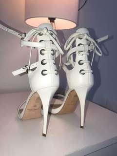 MARCIANO Heels — White & Gold