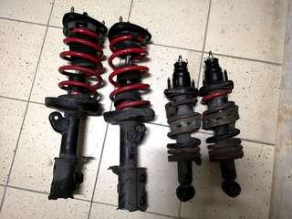 Honda stream suspension set with lower spring