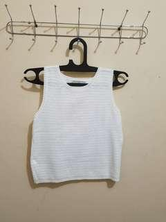 Crop Top putih atasan