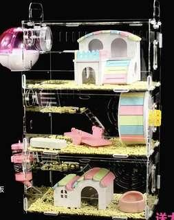 Hamster 3 layer Acrylic cage