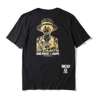 🚚 One Piece X AAPE by A Bathing Ape T Shirt