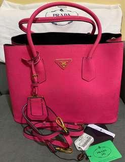 Preloved Prada Saffiano Cuir Large Double Flap Bag