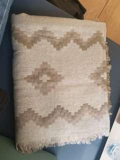 Aritzia Blanket Scarf (Birch/Grey/Silver)