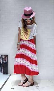 意大利SILVIAN 19春夏新款拼色時尚百搭半身裙