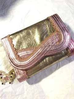 🚚 Anna Sui 金屬粉色 皮夾 [#半價良品市集]