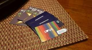 DISCOUNTED, Brand-New Starbucks Card pre-loaded with P1500 (Love design)