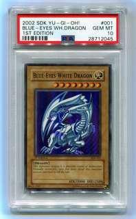 LF blue eyes white dragon sdk 1st edition psa 10