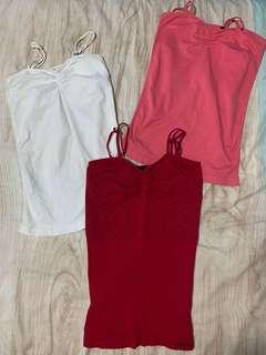 GUESS Singlet Tops 3 PACK size XS/S