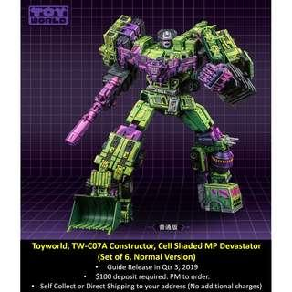 [Preorder] Toyworld, TW-C07A Constructor, Cell Shaded MP Devastator (Normal version), Set of 6
