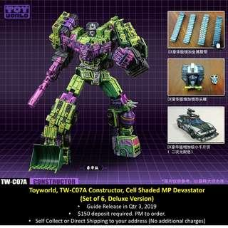 [Preorder] Toyworld, TW-C07A Constructor, Cell Shaded MP Devastator (Deluxe version), Set of 6