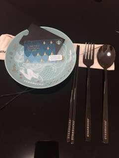 Starbucks siren anniversary ceramic plate set