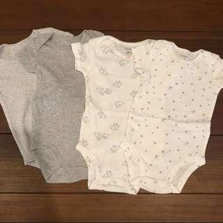 Carters bodysuits 6m neutral unisex