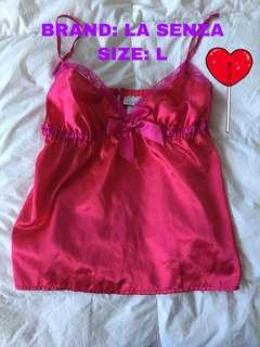 LA SENZA LINGERIE TOP PINK AND FUCHSIA