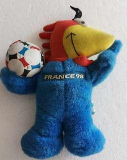 Official merchandise soft Plush toy France World Cup 98