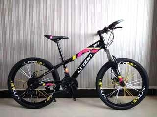 "🚚 Bicycle 24"" Crolan 787 Mountain Bike Sport Rim Yellow"
