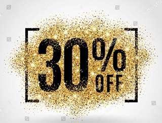 30% sale on clothes & shoes