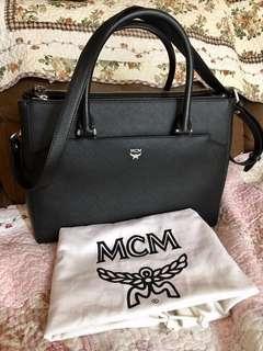Authentic MCM Elda leather tote bag