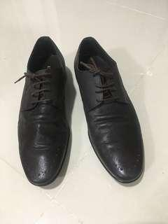 Brown Leather Shoes Korean Brand Elcanto
