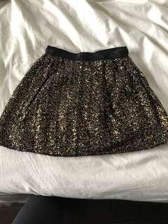 Club Monaco sequin skirt size 0