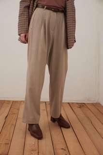 設計師款米色西褲(s)9成新