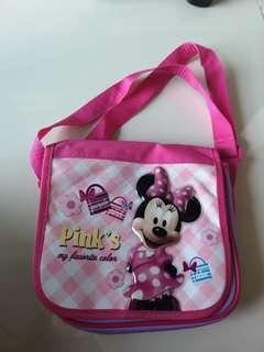 Minnie mouse pink bag kids small size carry