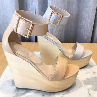 Kookai Tan wedges