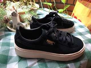 🚚 Puma x fenty 蕾哈娜 鬆糕鞋 黑色增高運動鞋 23cm us5