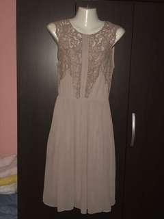 H&M Lace Midi Dress