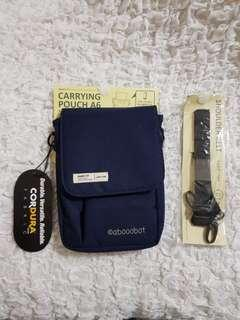 LIHIT LAB SMART FIT A6 CARRYING POUCH WITH ADJUSTABLE STRAP NAVY