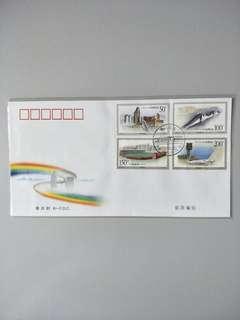🚚 B FDC 1998-28 Buildings in Macau