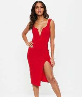 Red size 6 Aus misguided dress brand new