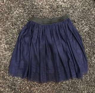 藍色半截紗裙 Cute Skirt ~ Great with boots!