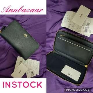 INSTOCK SPECIAL OFFER! Coach Continental Zip Around Large Wallet- Midnight (100% Authentic)