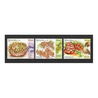 MALAYSIA 2019 EXOTIC FOOD CUISINES COMP. SET OF 3 STAMPS IN MINT MNH UNUSED CONDITION