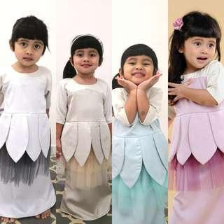 🚚 STELA KURUNG baju korung stella kurong korong raya family blouse peplum top tunic tunik