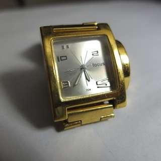 Focus Quartz Small Silver Square Dial Watch