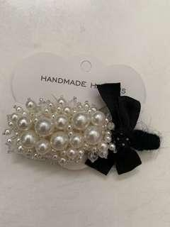 Handmade hair pin with pearl